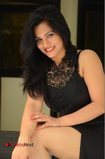 Actress Revathi Chowdary  Pictures in Black Long Dress at Kakateeyudu Movie Press Meet  0143