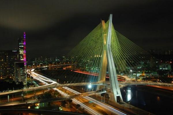 Ponte Estaiada Octavio Frias, Sao Paulo, Brazil by Marcos Leal