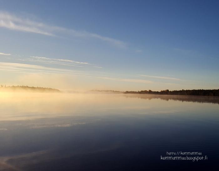 järvimaisema pohjoinen melkein lappi syyskuu pakkasta