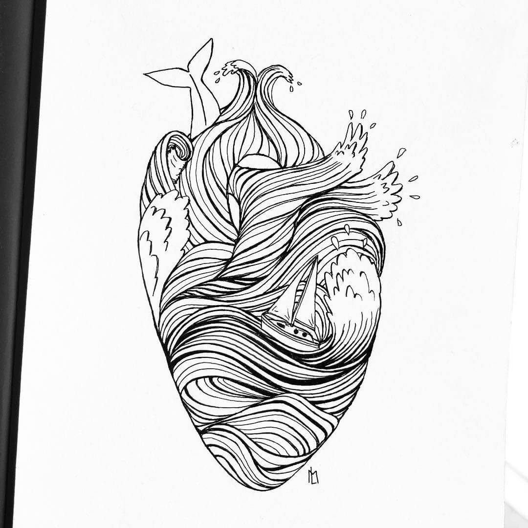 11-Storming-Heart-Maartje-Ink-Drawings-Mostly-Enclosed-www-designstack-co