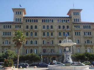 The Grand Hotel Royal in Viareggio is an example of the town's Liberty-style architecture