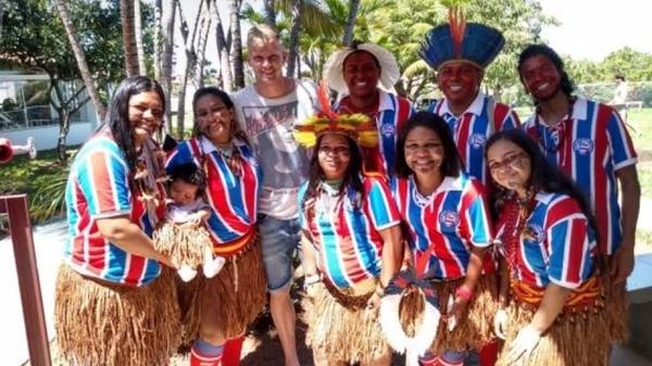 Os povos indígenas estão sendo homenageados neste mês de abril pelo Esporte Clube Bahia.