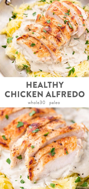 Healthy Chicken Alfredo (Paleo, Whole30, Dairy Free)