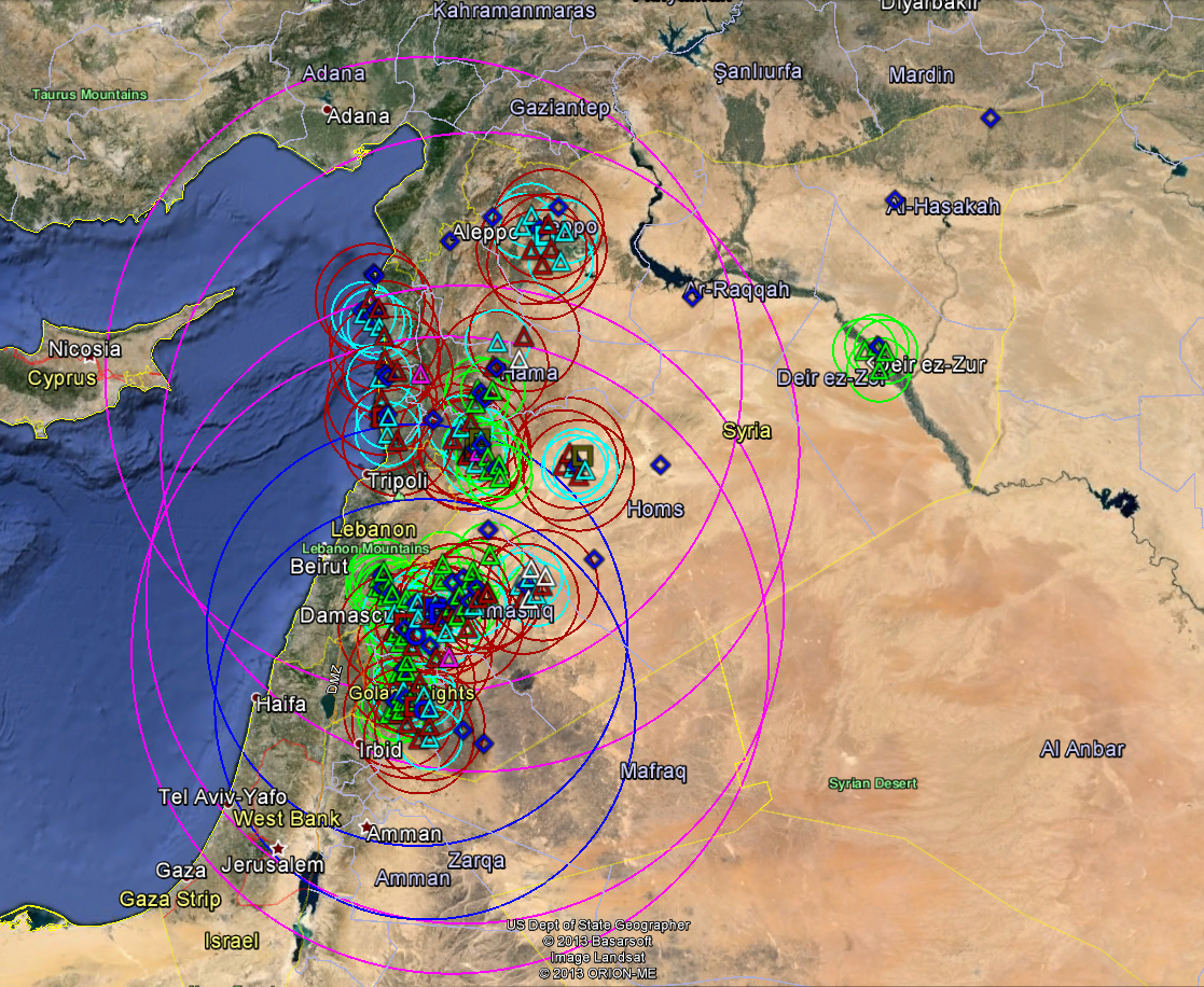 Here are the threat rings for the