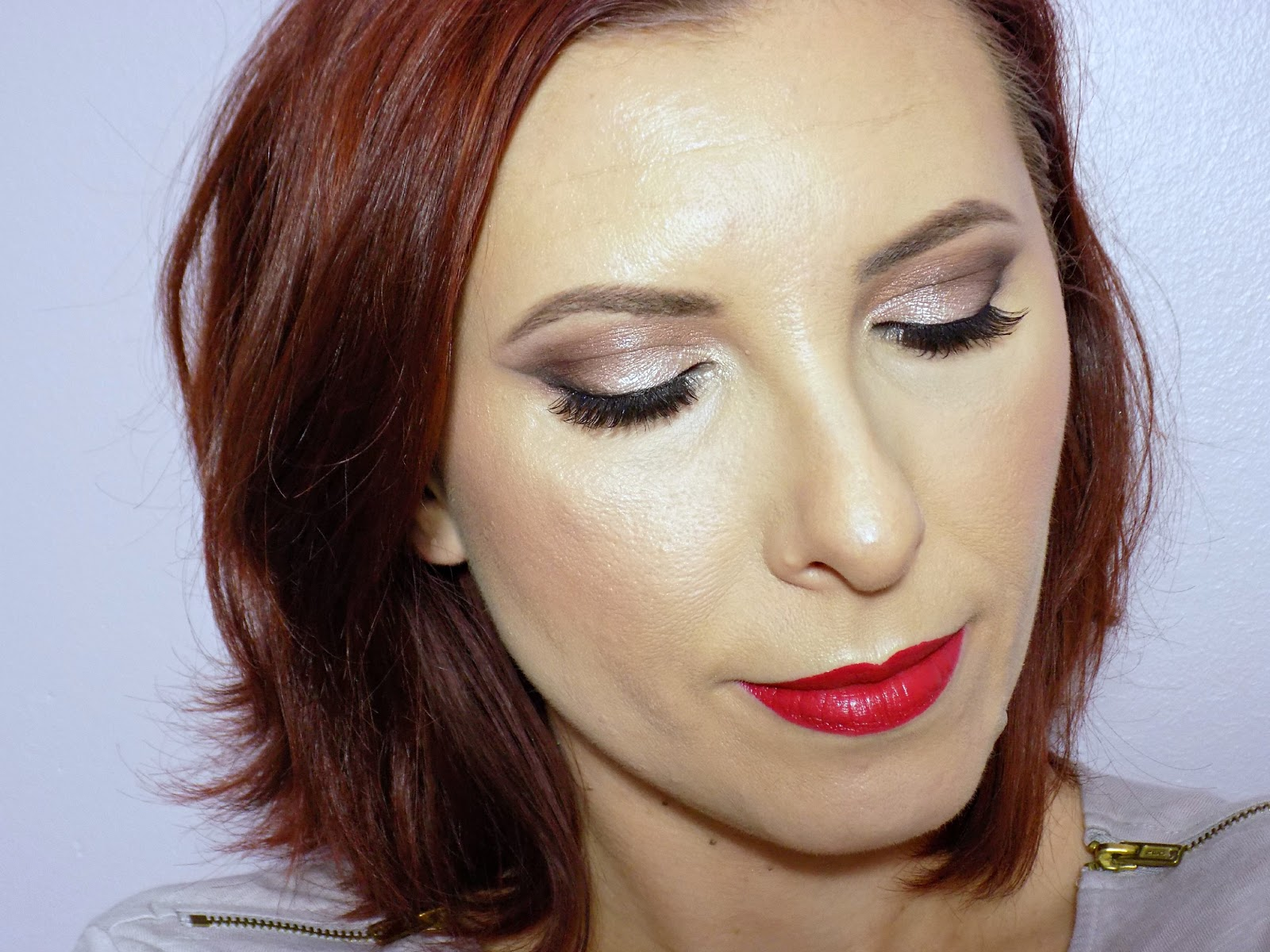Christmas Day/party glam makeup look