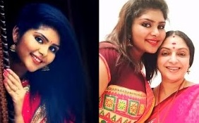 Tamil Actress Seetha With Her Daughter Abhinaya