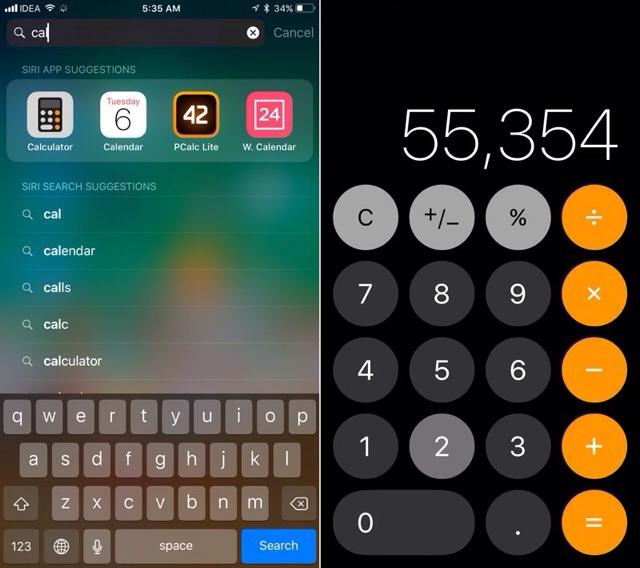 Ikon Dan Tombol Aplikasi Calculator iOS 11