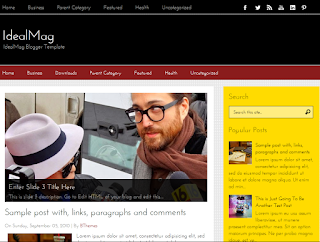 IdealMag Responsive Blogger Template