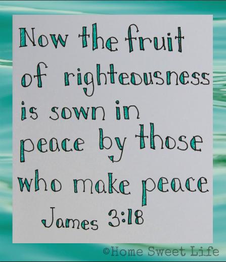 Scripture Writing, James 3:18
