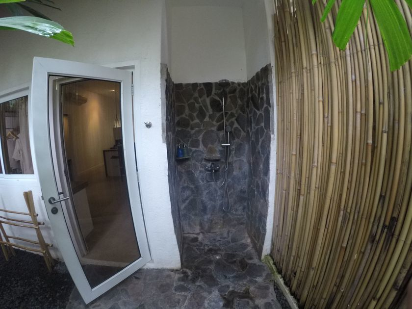 Shower area at Atmosphere Resorts & Spa