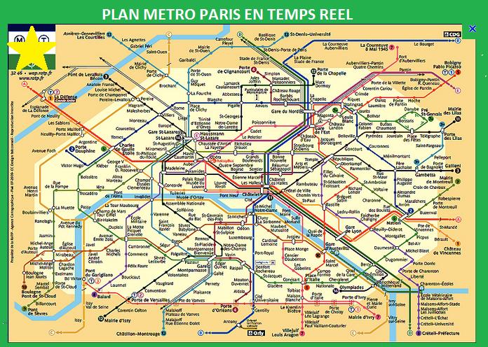 Paris Subway Map Interactive.Plan Metro Paris Plan Interactif Metro 75 Interactive Map Of