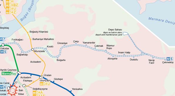 Üsküdar - Çekmeköy Metrosu (M5) ertelendi