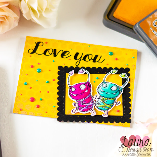 Valentine's Day Card with NuvoDrops and CC Designs Cutie Bug