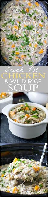 Crockpot Chicken & Wild Rice Soup