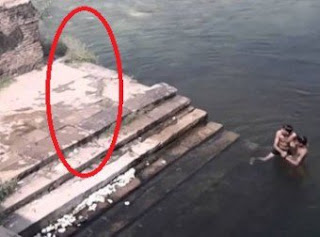Ghost Jumping In The Lake Caught On Video