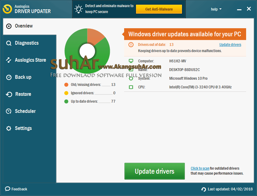 Download Auslogics Driver Updater full version