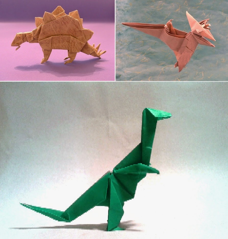 Animated Origami Instructions: Dinosaur | Origami diagrams ... | 934x894