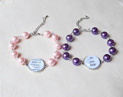 image chunky beaded bracelets two cheeky monkeys literature quote glass pearls mary poppins the princess bride