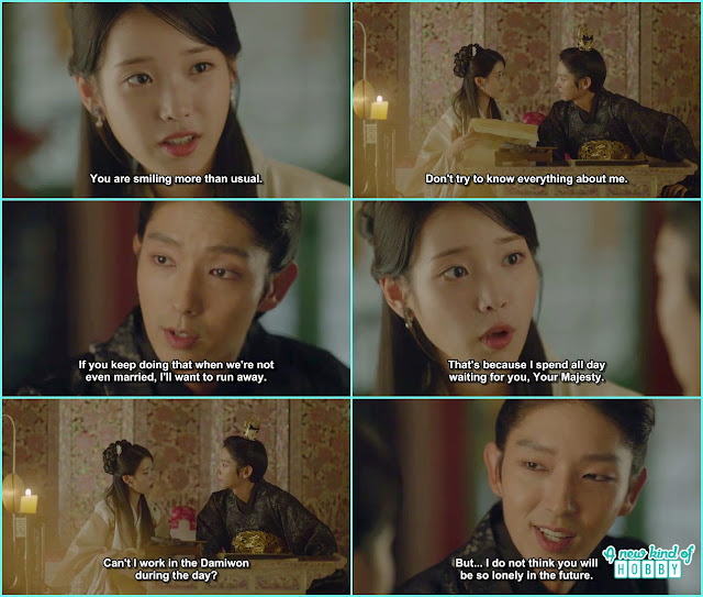 hae soo ask wang so she had nothing to do whole day except for waiting for him she wante dto work at damiwon- Scarlet Heart Ryeo - Episode 17 (Eng Sub)