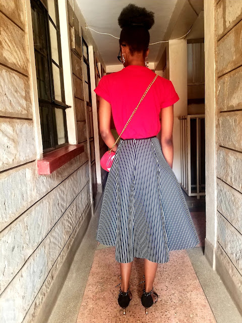 Fun Idea On How To Wear Your A-Line Midi Skirt