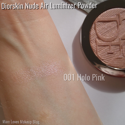 Dior Diorskin Nude Air Luminizer Powder 001 Holo Pink Swatch