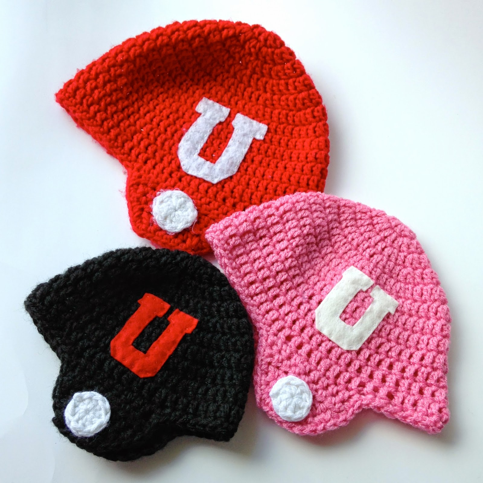 7574ab39c 5 Little Monsters: Crocheted Football Helmet Hats- Free Pattern