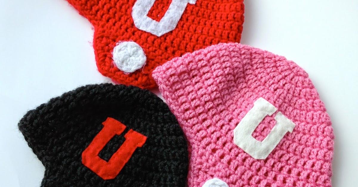5 Little Monsters Crocheted Football Helmet Hats Free Pattern