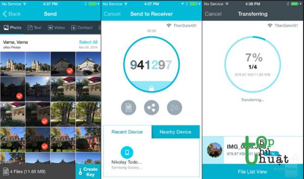 Thủ thuật chia sẻ dữ liệu từ iPhone sang Android nhanh nhất