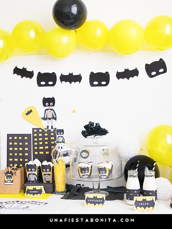 Kit imprimible Batman - una fiesta bonita