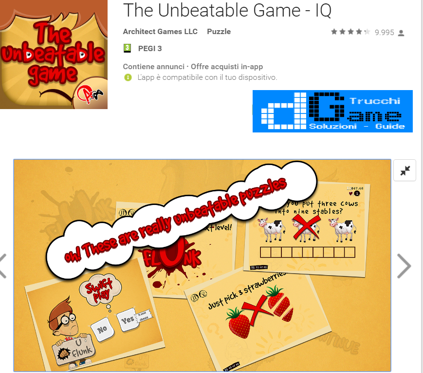 Soluzioni The Unbeatable Game - IQ di tutti i livelli | Walkthrough guide