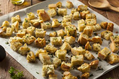 Croutons bakken