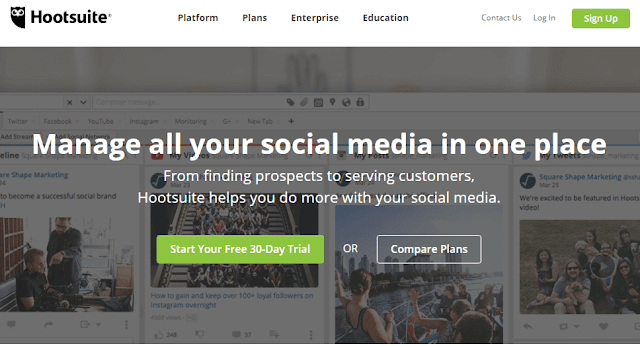 Hootsuite social management tool