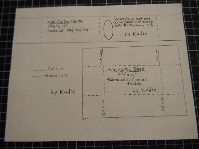 Kards by Kadie Mini Milk Carton Template
