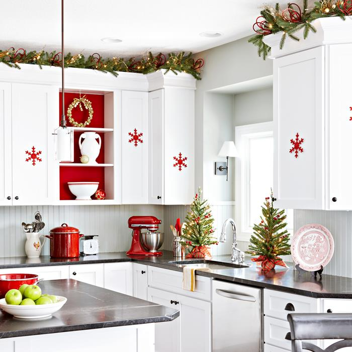 Christmas Decorating Ideas For Above Kitchen Cabinets