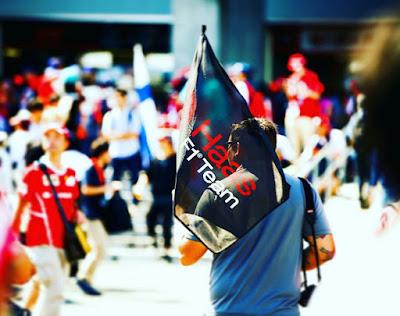 Haas F1 team fan