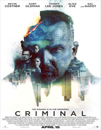 Poster Of Criminal 2016 Dual Audio 140MB HDTC HEVC Mobile Free Download Watch Online Worldfree4u
