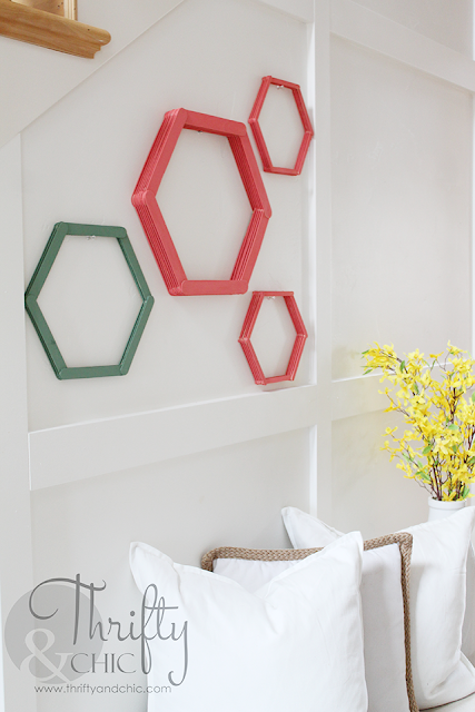 Create cute wall art using popsicle sticks!