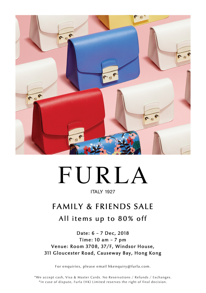 e2c2d960a3329f Hong Kong Fashion Geek  Furla Friends   Family Sale