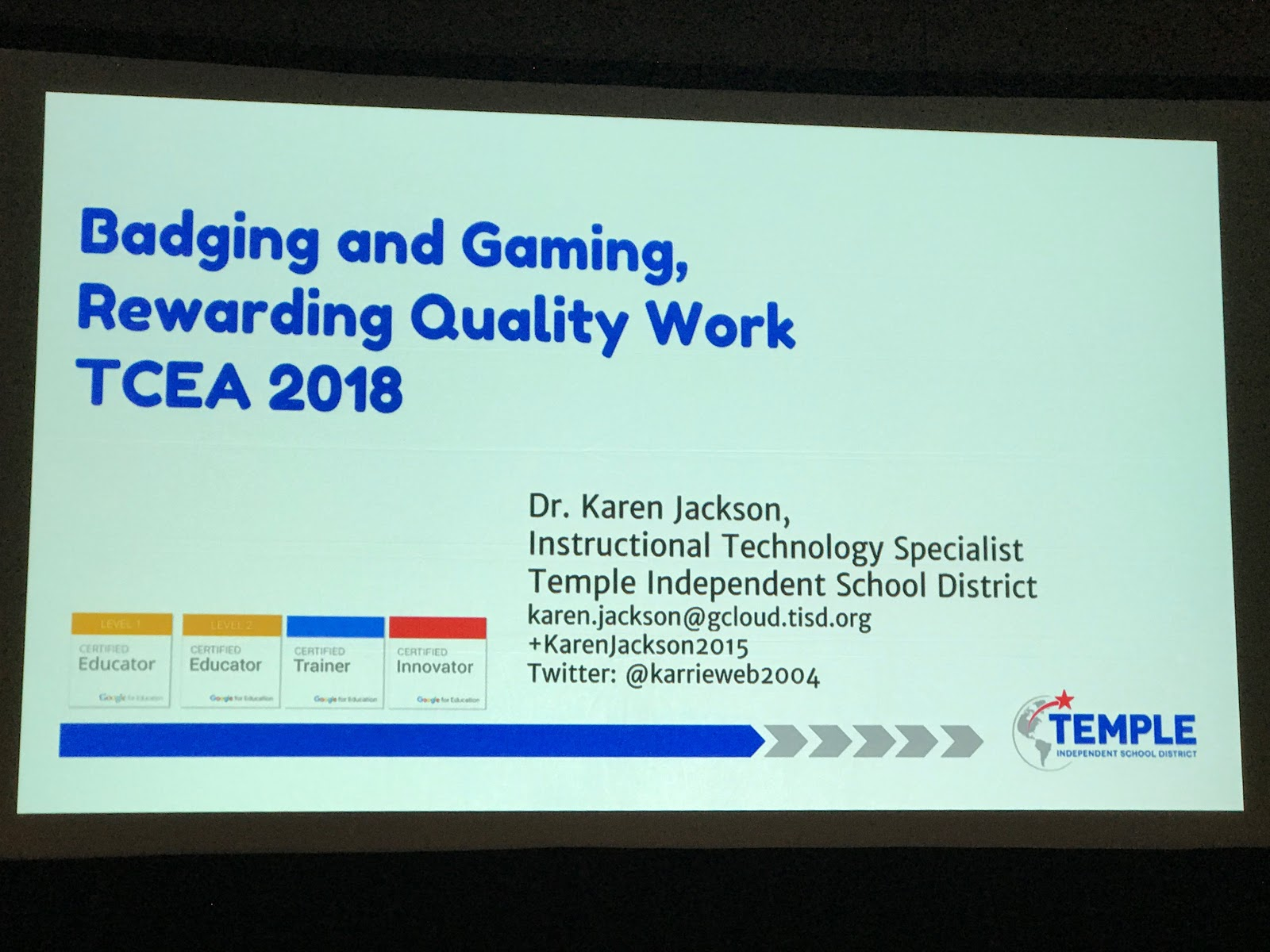 Edtechsandyk Badging And Gaming Rewarding Quality Work Tcea18 Tcea