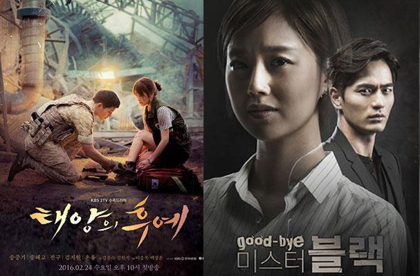 """""""Descendants of the Sun"""" và """"Goodbye Mr. Black"""" : Bộ phim nào sẽ giành chiến thắng ?"""