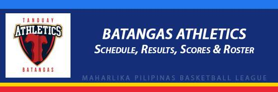 MPBL: Batangas Athletics Schedule, Results, Scores, Roster