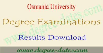 OU Degree results 2017 Osmania ug 1st 2nd 3rd year result date