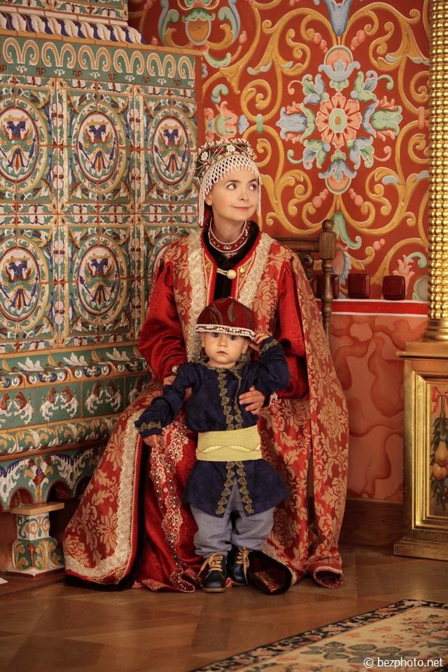 семейная фотосессия в русском стиле фото