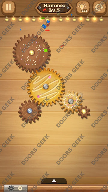 Fix it: Gear Puzzle [Hammer] Level 3 Solution, Cheats, Walkthrough for Android, iPhone, iPad and iPod