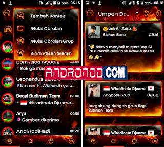BBM Mod Droid Chat! Legend Of Fire v3.0.0.18 Apk Terbaru