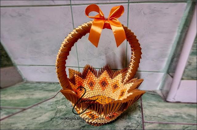 666. Koszyki z origami / 3d origami baskets