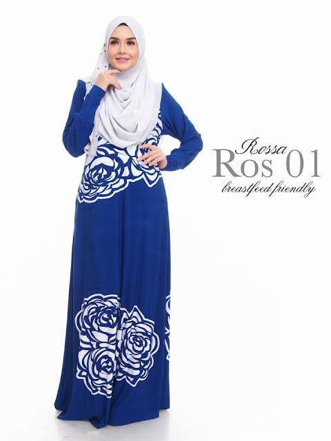 Jubah Ros Blue