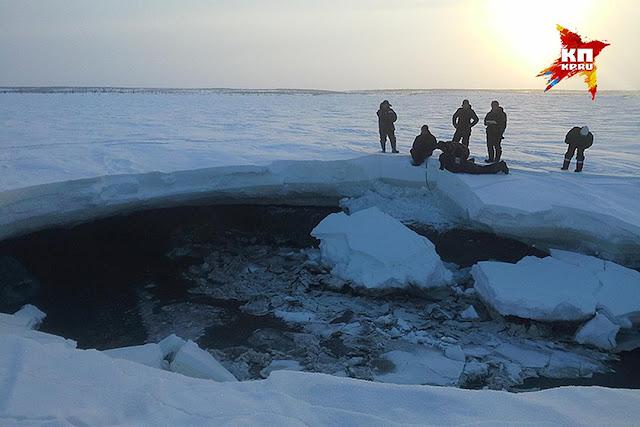 На Таймыре обнаружили загадочное озеро в разломе