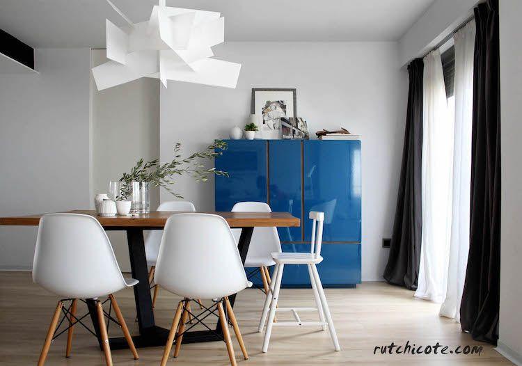 salón comedor y cocina de estilo nórdico