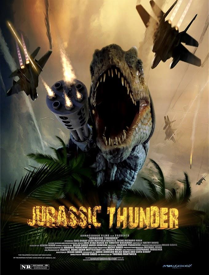 Locurón total: Trailer para Jurassic Thunder, dinosaurios armados vs zombies